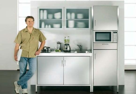 Minicocinas para espacios reducidos decoraci n dise o - Microondas muy pequenos ...