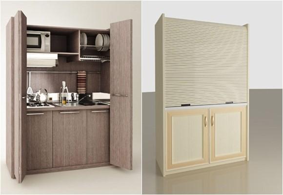 Minicocinas para espacios reducidos decoraci n dise o for Modelos de muebles de cocina para espacios pequenos