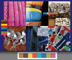 Footprints es una paleta mas vibrante y salvaje, que incluye el color del año 2012, Tango Mandarina. Esta combinación es mas divertida y eléctrica. Estos colores son seguros de si mismos, usalos es una decoración ecléctica que junte todas tus cosas favoritas.