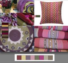 La paleta Sojourn es mágica y compleja, se inspira en los colores del vino y de la tierra. Si quieres una decoración con color pero mas seria, usa estos tonos en tu hogar. La intensidad de los purpuras mezclado con los orgánicos marrones y verdes completara tu estilo.