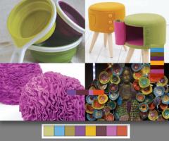 """El nombre de esta paleta lo dice todo, """"fuera de lo común"""". Esta combinación de colores es divertida, vibrante, extravagante y obtusa. No importa como se usen, los colores mismos son los que llamaran la atención. Estos tonos son creativos, usalos en cuartos infantiles o juveniles."""