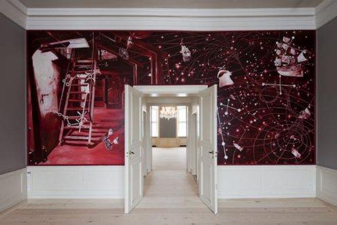Orginal pintura de Morten Schelde en la sala de recepciones