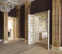 La sala de lectura y música, con el office a la derecha y otra sala a la izquierda, serán una de las dependencias privadas para los Príncipes y sus hijos, Christian e Isabella