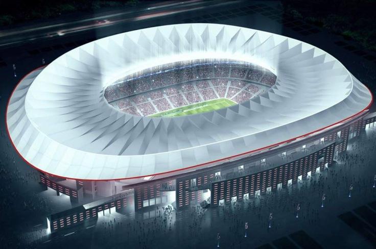 Nuevo estadio Atlético de Madrid (2014-2015) – 70.000 espectadores.