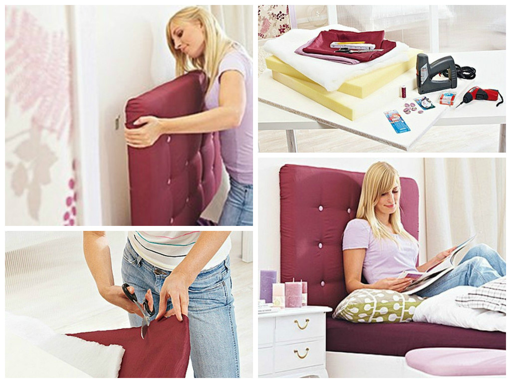 Bricolage c mo hacer un cabecero tapizado para la cama - Como tapizar un cabecero de cama ...