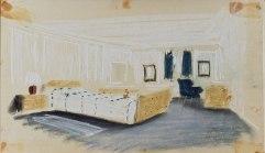 Boceto del cuarto del príncipe Felipe