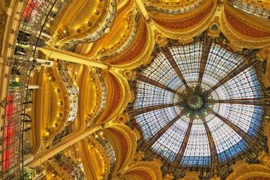 La cupula de las Galerías Lafayette, París (Francia)