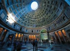 La cúpula del Panteón, Roma (Italia)