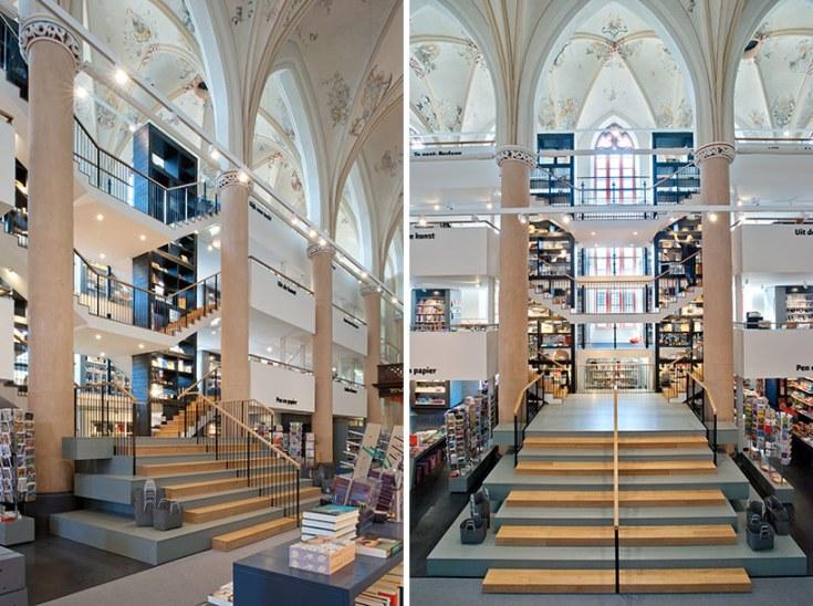 Una iglesia holandesa transformada en librería.