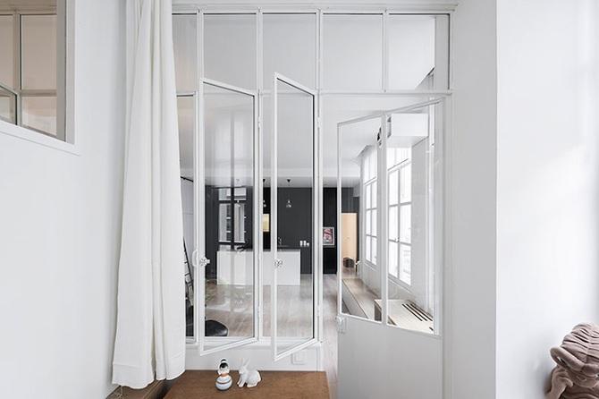 Un Loft parisino en blanco y negro