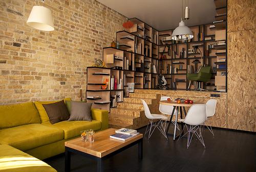 Un departamento donde los #materiales son los protagonistas