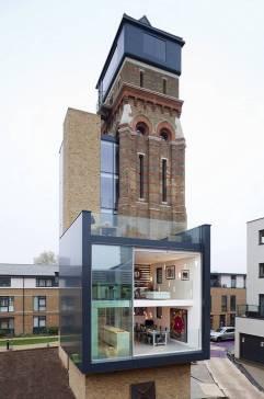 TORRE DE AGUA. Los dueños reciclaron algunas áreas de la torre y ampliaron su base unos 298 metros cuadrados.