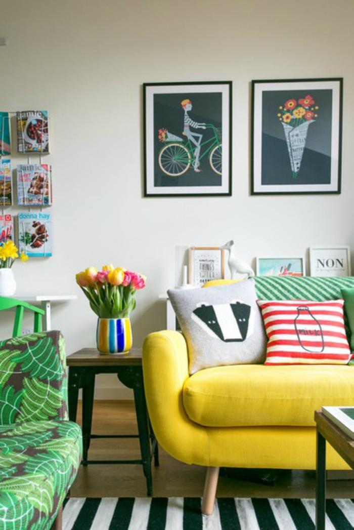 El color cómo protagonista en esta pequeña casa.