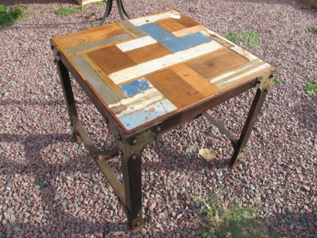 """#Reciclaje: Muebles hechos a partir de """"patchwork"""" de maderas"""