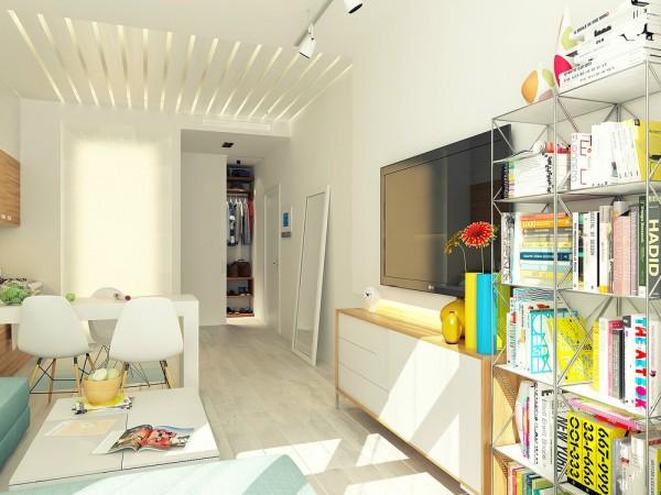Un pequeño y colorido departamento en donde esta pensado hasta el ultimo detalle