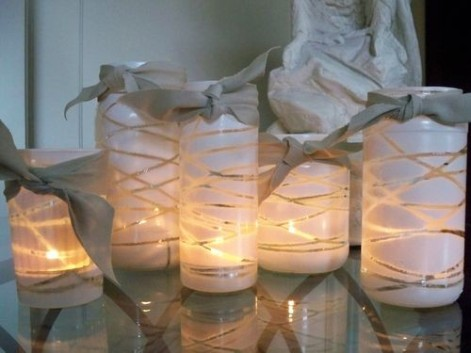 Frascos y latas: Materiales reciclables para decorar a bajo costo