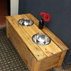 Para camuflar los platos del perro
