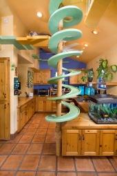 Una casa que es un paraíso para los gatos