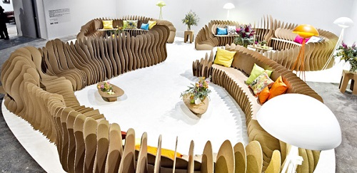 Muebles sostenibles de cartón