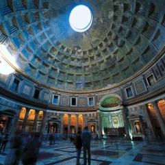 Cúpula del Panteón, Roma, Italia.