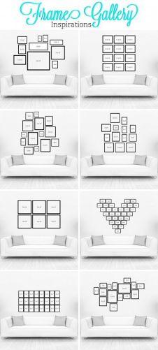 45 formas de colgar fotografías