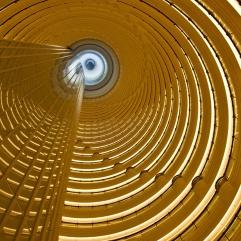 Atrio del hotel Grand Hyatt, Shanghai, China.