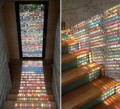 Puertas vidrieras hechas con retazos de pantone