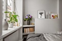 Un pequeño departamento estilo nórdico