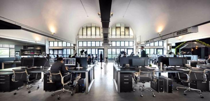 Parks & Associates En este caso se trata de un estudio de arquitectura que decidió construir sus propias oficinas en Dallas con un estilo único.