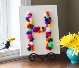 Hágalo usted mismo: decorar con pompones de lana