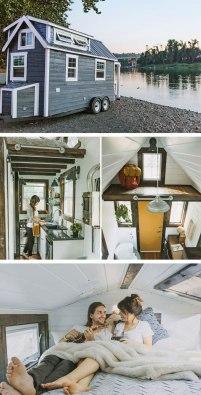 Diminuta casa familiar sobre ruedas