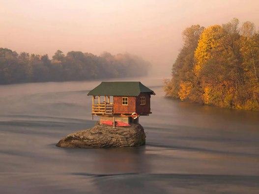 Casa sobre una roca