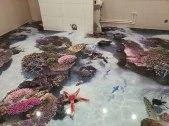 Los suelos 3D convierten tu baño en un océano