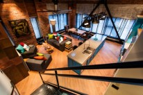Salas de estar estilo industrial