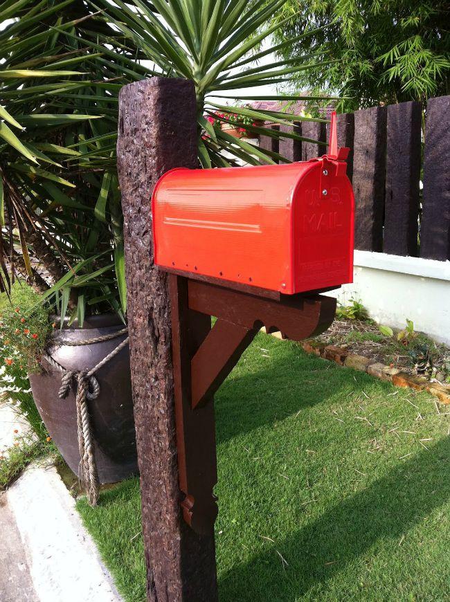 6. Coloca un buzón para el correo