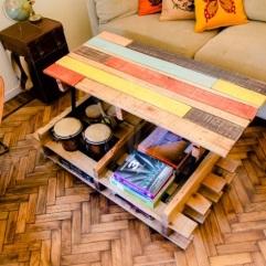 Cómo hacer una mesa elevable con palets