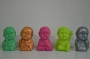 Budas de yeso de 13 cm de alto. Significado: amor - fe - sabiduría - paz - felicidad Precio: $110